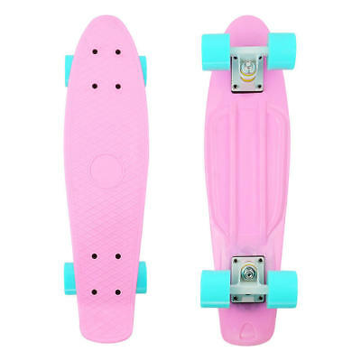 New Cruiser Skateboard Graphic Floral Board Complete Retro Penny Style Pink