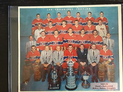 Vintage Eagle Table Hockey Game Montreal Canadiens 1957-58 Stanley Cup Photo