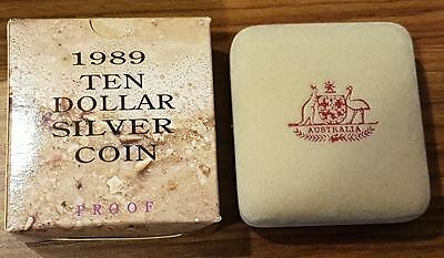1989 State series $10 silver proof coin Queensland