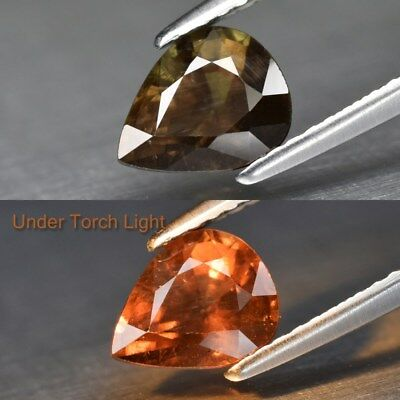 1.44ct 7.5x6mm Pear Natural Unheated Color Change Garnet, Africa