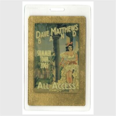 Dave Matthews Band authentic 2003 concert Laminated Backstage Pass Summer Tour
