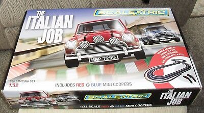 Scalextric The Italian Job 1:32 - 1960's Mini Coopers - New In Box