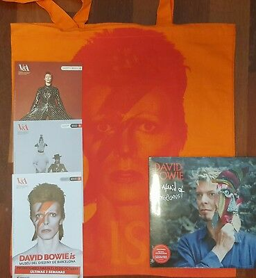 David Bowie I'm Afraid Of Americans & Exhibition Bag & Flyers
