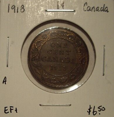 A Canada George V 1918 Large Cent - EF+