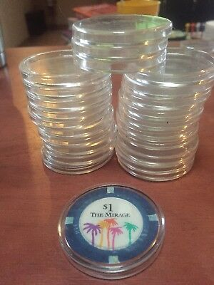 Casino Chip Coin Holders Display Potective Cases 24