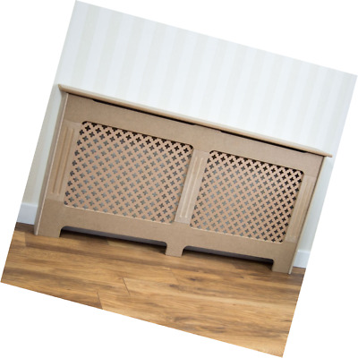 Home Discount Oxford Radiator Cover Unfinished Unpainted Cabinet w/ Grill, Large