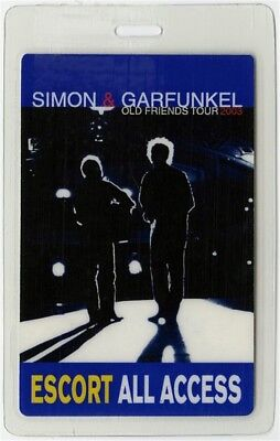 Simon & Garfunkel authentic 2003 Laminated Backstage Pass Old Friends Tour AA