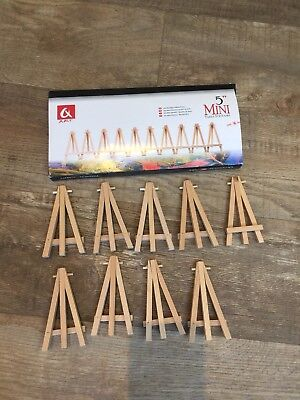 """19 X Mini 5"""" Table number stand/ Easel /Rustic Wedding Table Numbers /Party"""