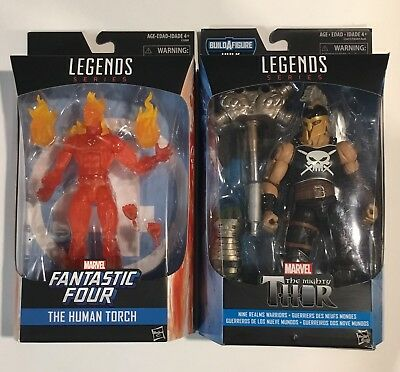 Marvel Legends The Human Torch And Ares Nine Realms Warriors