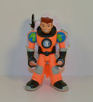 """2006 Orange Earth Ace w/ Backpack 5"""" #3 Planet Heroes Action Figure"""
