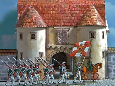 30Mm Flat Zinnfiguren Age Of Napoleon Russian Infantry On The March!!