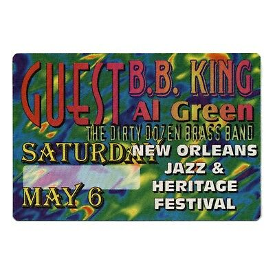 BB King authentic Guest  tour Backstage Pass