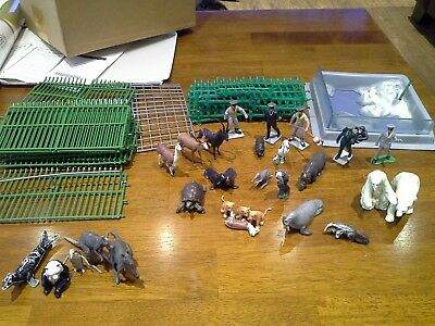 britains zoo animals with keepers, enclosure and cages