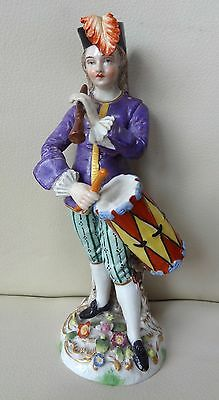 Superb Quality 19th Century Sitzendorf German Porcelain Musician - Drummer
