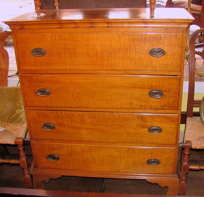 American Federal Tiger Maple Chest of Drawers Circa 1790