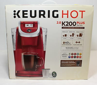 KEURIG HOT 2.0 -K200- Plus Series- Single Serve Plus Coffee Maker- Red