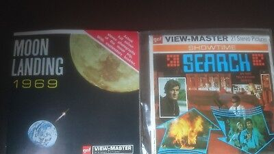 2 Rare View-Master Packs Moon Landing And Search (70's Tv Show). Viewmaster.