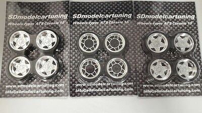 1/18 Scale ATS CLASSIC 15INCH TUNING WHEELSET, NEW with colour options!!