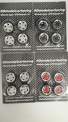 1/18 scale ATS CLASSIC 14INCH Tuning wheel set, NEW Design with colour options!!