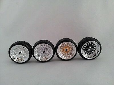 1:18 Scale BBS RS 15 INCH TUNING WHEELS WITH SEVERAL COLOR OPTIONS, UNIQUE!
