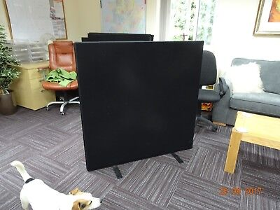 Office privacy screens fabric 5 Nr 1200 x 1200mm each brown . Auction is for 5.