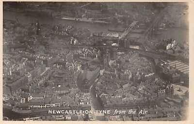 Northumberland Newcastle-On-Tyne View From The Air Aerial Photo Card