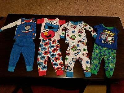 Infant Boy Pajama Lot, Size 12 months, Pre-Owned