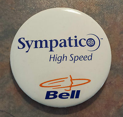 Bell Sympatico High Speed Advertising Pinback 1980s 2 1/2""