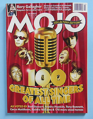 MOJO Oct 98 100 Greatest Singers Rory Gallagher Elvis Costello Burt Bacharach