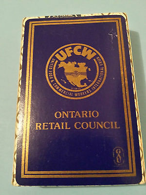 UFCW United Food & Commercial Workers 1980s Playing Cards Ontario Retail Council