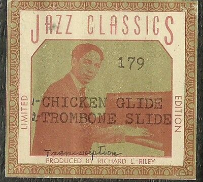 Chicken Glide Rag, Trombone Slide from Cremona A-Roll Piano Roll recut JC 179