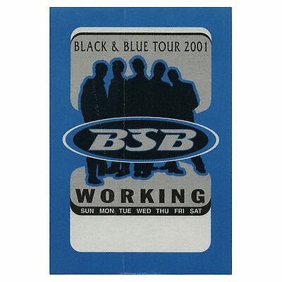 Backstreet Boys authentic Working 2001 tour Backstage Pass