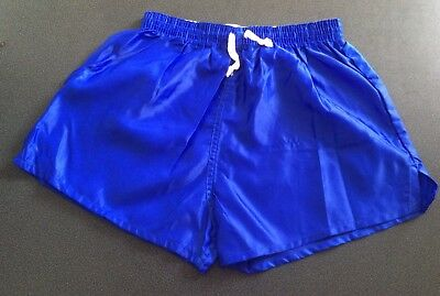 "Vintage Shiny Nylon Shorts, Royal Blue, size 32"" (81cm)"