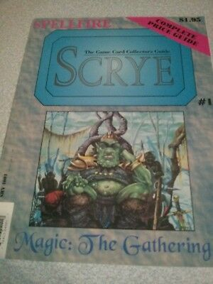 Rare Scrye magazine Issue 1 Guide to Collectable Card Games MTG magic