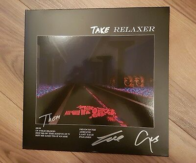 Alt-J Relaxer signed vinyl LP rare added word!