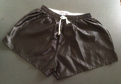"Vintage Shiny Nylon Shorts, Black, size 34"" (86cm)"