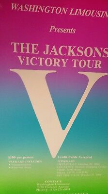 """The Jacksons Victory Tour 1984 Promo  Poster 14""""x22""""   ONLY ONE IN STOCK!"""