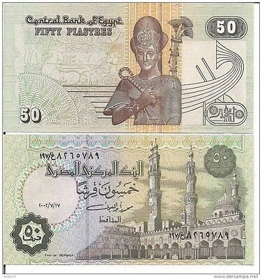 50 Egyptian Piasteres note Uncirculated Brand new with Free Post