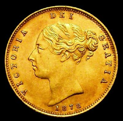 1878 AU/GEF Victoria Half Sovereign No 99 CGS 65, MS 60-61 ☆ CGS Second Finest ☆