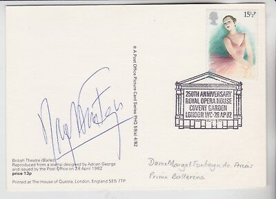 Gb Stamps 1982 Theatre Phq First Day Signed Dame Margot Fonteyn Dbe 1919-1991