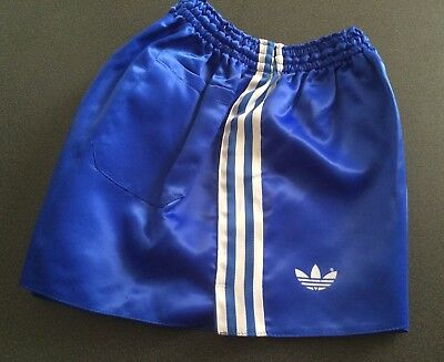 Vintage adidas Shorts, Shiny Royal Blue with White Trim, size 90 (~GB M / D 6)