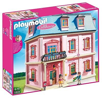 Playmobil 5303 Deluxe Dollhouse with Working Doorbell Doll House