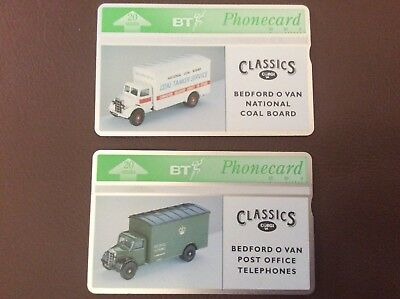 BT Phonecards X 2 Corgi Classics BTA 047 and BTA 048