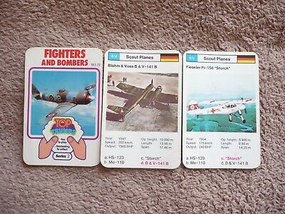Top Trumps Dubreq Fighters & Bombers  Series 2 Vintage