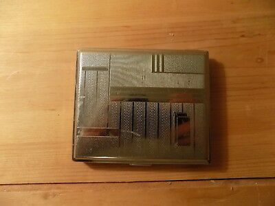 Vintage Silver Cigarette Case Art Deco GERMANY