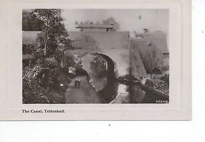 2nd Real photo postcard of the canal at Tettenhall Wolverhampton Midlands in vgc