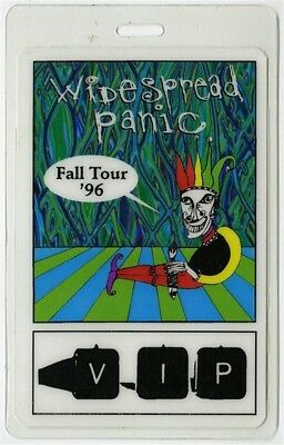Widespread Panic authentic 1996 Fall Tour concert Laminated Backstage Pass VIP