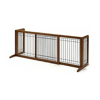 Richell Wood Freestanding Pet Gate Small Autumn Matte Finish
