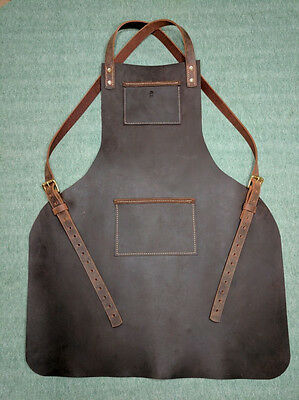 Handmade Heavy Duty Leather Apron by Bare Hand Customs