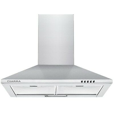 Ciarra 60cm Stainless Steel Chimney Cooker Hood 600mm Range Hood Kitchen Extr...